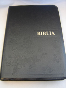 The New EWE Bible Published as BIBLIA / Black Leather Bound with Golden Edges and Thumb Index