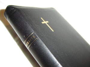 Finnish Luxury Black Leather Bound Bible / 122x180 mm Size, Zipper, Thumb Indexed / Pyha Raamattu / Vanha and Uusi Testamentti