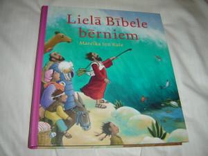 Latvian Children's Bible / Liela Bibele Berniem / by Mareika ten Kate / Large Size Format