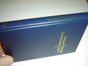 Russian - Lithuanian Bilingual New Testament With Golden Edges / Naujasis Testamentas Is graiku kalbos verte Ceslovas Kavaliauskas