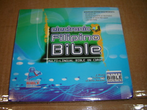 Electronic Filipino Bible on CDROM / 4 English Versions and 16 Other Versions in 8 Philippine Languages / Concordance, Mini Dictionary, Bible Reading Plan