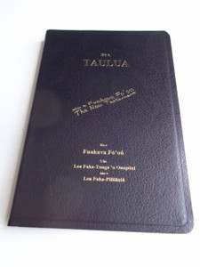 Tongan - English Bilingual NRSV New Testament - Black Cover with Golden Edges / Ko e Taulua: Ko e Fuakava Fo'ou