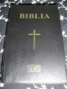 Biblia Black Vinyl Bound / Romanian Bible 115 X 180 / Biblia Sau Sfanta