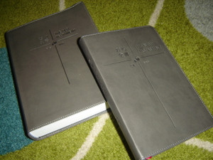 Chinese - English Catholic Bilingual Study Bible in Two Volumes Old Testament and New Testament / Gray Imitation Leather Binding