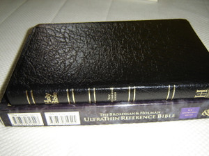 NIV Ultrathin Reference Bible / Black Genuine Leather Bound with Golden Edges