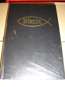 Ilocano Bible Black Hardcover with Gold Fish Symbol / Ti Biblia / Midsize Bible Size