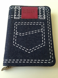 Romanian Bible - Denim Cover with Zipper / Biblia sau Sfanta Scriptura - Editie Revizuita