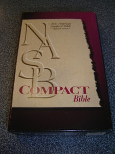 NASB Compact Bible '95 Updated Edition / Words of Christ with Red / Burgundy Bonded Leather with Snap-Flap, Golden Edges