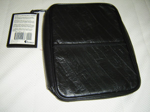 "Guardian Bible Case / Elegant Eel-skin Style Soft Leather Grain Black / LARGE Bibles up to 9.7"" X 7 X 1.7"""