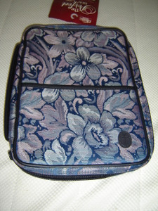 The Perfect Ladies Bible Case EX-LARGE Size / Blue Tapestry PT 12BL / Fits Bibles 7.5'' X 10.2'' X 2''