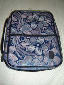 The Perfect Ladies Bible Case LARGE Size / Blue Tapestry PT 11DR / Fits Bibles 7'' X 9.5'' X 1'' 3/4