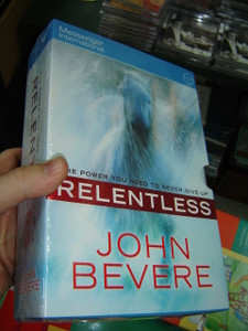 Relentless - Hardcover Book with 6 Audio CDs / The Power You Need To Never Give Up / John Bevere / 2011