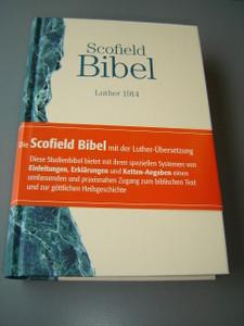 Scofield Study Bible in German Language / Color Maps / Scofield Bibel Nach der deutschen Ubersetzung Martin Luthers 1914