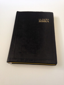 La Sacra Bibbia - Italian Language Bible / Black Leather Bound - Antico e Nuovo Testamento
