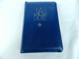 French Protestant Standard Bible - Blue Cover with Golden Edges and Zipper / Bible Francais Courant Glissiere