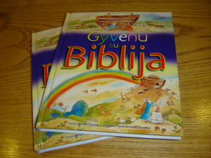 Lithuanian Children's Bible - Gyvenu su Biblija / My First Communion Bible - for all ages with Colorful Illustrations