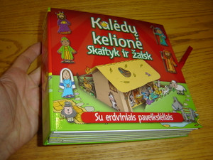 The Christmas Journey Storybook - With Pop-Up Play Scenes / Lithuanian Language Version / Kaledu Kelione Skaityk ir Zaisk - Su Erdviniais Paveiksleliais