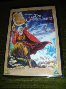 The Ten Commandments [Region 2 PAL DVD] Audio: English / Subtitles: Swedish, Danish, Norwegian, Finnish / 3 hr 42 min
