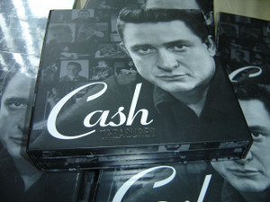 "Cash Treasures / Johnny Cash: The Hits, Duets, Gospel Singer - 3 CD Collector's Set / 2013 Sony Music Entertainment / ""Columbia"" Release / Design by Randall Martin"