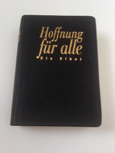 Hoffnung Für Alle: Die Bibel / Black Leather German Pocket Bible HFA with Golden Edges / Printed in Germany 2003