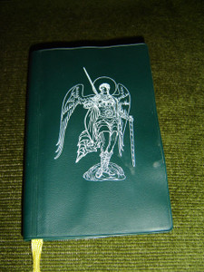 Lithuanian Catholic Songbook and Prayer Book / Kario Maldos Vadovas / Green Vinyl Bound with Angel on Cover / Great for Catholics from Lithuania