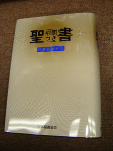 Japanese Bible: New Japanese Translation – with Commentary and Index, 2005 Edition / Brown Imitation Leather with Gold Letters