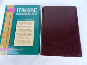 Burgundy Leather Scofield Bible: King James Version KJV, Reference Edition / Edited by C. I. Scofield, D. D. / FS50BG
