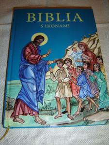 Slovak Language Orthodox Children Bible – Bible Stories with Graphic Illustrations / Biblia S Ikonami – Pribehy z Biblie s Grafickou Upravou