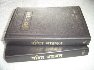 Hindi O. V. Re-Edited Bible / Dark Brown Vinyl Bound with Silver Edges