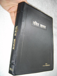 Large Print Marathi Bible, BSI Version / Black Vinyl Bound Red Edges