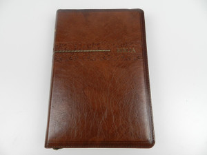 Swahili Holy Bible, Union Version UV052ZTI – Brown Leather with Zipper and Thumb Index / Biblia Maandiko Matakatifu