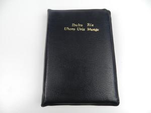 Gikuyu Language Holy Bible – Black Leather Red Edges with Zipper / Ibuku Ria Uhoro Uria Mwega