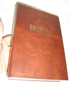 Brown Hardcover Hungarian Bible – with Color Maps and Photographs / Magyar Biblia