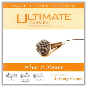 Ultimate Tracks: What it Means (as made popular by Jeremy Camp) [Audio CD]