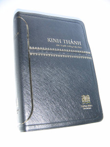 Vietnamese Black Embossed Leatherette Bible, Revised Vietnamese Version
