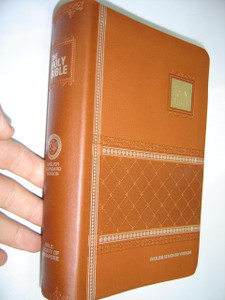 English Standard Version (ESV) Bible with Concordance, Brown Embossed Leather with Golden Edges