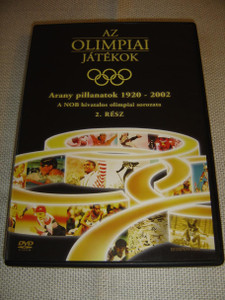 The Olympic Games: Golden Moments 1920-2002 / IOC official Olympic series - Part 2 / Az Olimpiai Jatekok / ENGLISH and Hungarian Sound Options / Hungarian Subtitles [European DVD Region 2 PAL]