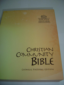 Christian Community Bible, Catholic Pastoral Edition – Family Edition / Brown Leatherette with Thumb Index and Golden Page Edges / 2 Bookmarks, Glossary and Color Maps
