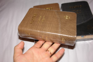 Indonesian - English Bilingual Holy Bible Luxury Edition Compact / ALKITAB Terjemahan Baru - New International Version TB - NIV / Golden Edges, Thumb Index, Colored Maps / Kamus Alkitab