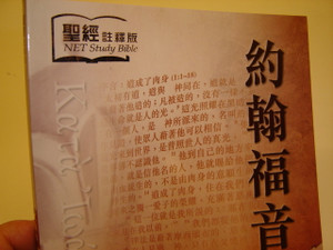 The Gospel of John with the Extensive NET Study Notes in Chinese Language / Great for New Believers and for Outreach / BS1042 / NET Study Bible Chinese Portion / WCNV