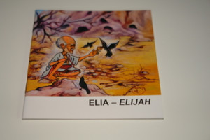 Indonesian – English Bilingual Children's Bible Story Booklet / Elia - Elijah