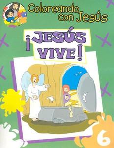 Jesus Vive: Libro Para Pintar, Crear y Conocer A Dios (Coloreando Con Jesus (Numbered)) (Spanish Edition)  Paperback Maria Ester H de Sturtz