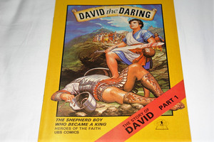 The Story of King David I / United Bible Society Comics / The Shepherd Boy Who Became King / Heroes of the Faith UBS Bible Comics Series For Children / Full Color