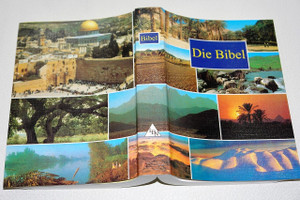 German Bible with Images of the Holy Land on Cover / Die Bibel / Lutherbibel 1912 / Das Neue Testament: neu uberarbeitet 1998 / Textus receptus / Color Maps