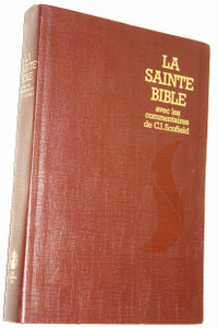 French Scofield Study Bible / La Sainte Bible avec les commentaries de C.I.Scofield / Louis Segond / Version Revue 1975 / Swiss Bible Society Edition / Color Maps / Imitation Leather Brown Cover