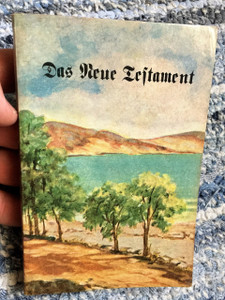 German New Testament Holy Land Cover / Das Neue Testament / Old Print 1947 / Martin Luthers Text / Fraktur Script