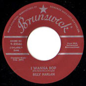 BILLY HARLAN - I WANNA BOP
