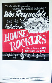 WES REYNOLDS & THE HOUSEROCKERS POSTER