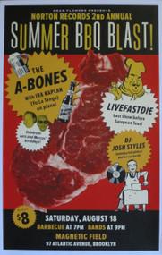 A-BONES / LIVEFASTDIE BBQ POSTER