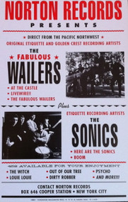 SONICS / WAILERS POSTER (HARD STOCK)